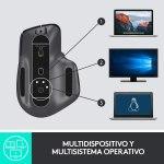 Logitech MX Master 3 Advanced Ratón Inalámbrico, Receptor USB, Bluetooth, 2.4GHz, Desplazamiento Rápido, Seguimiento 4K DPI en Cualquier Superficie, 7 Botones, Recarcable, PC, Mac, iPadOS, Negro9