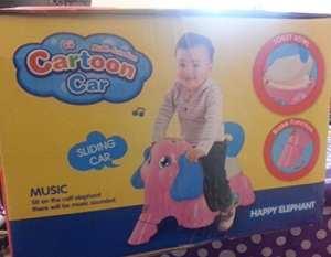 Mcglobal Pot de WC pour enfant Toilettes amusantes Design éléphant cartoon, avec musique. éléphant rose
