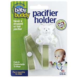 Marque Baby Buddy – Bébé Buddy Bear Pacifier Holder, SAGE