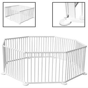 KIDUKU® Parc pour enfants Blanc Barrière de sécurité et parc bébé 7,2 m XXL y compris porte de sécurité