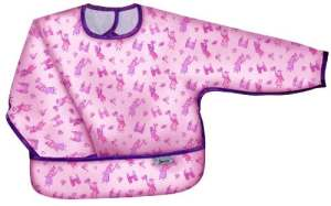Pink Princess – Long Sleeve Large Waterproof Coverall with Flip Over Pocket, By Frenchie Mini Couture