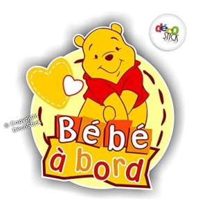 Sticker Bébé à Bord Winnie l'Ourson – Autocollant