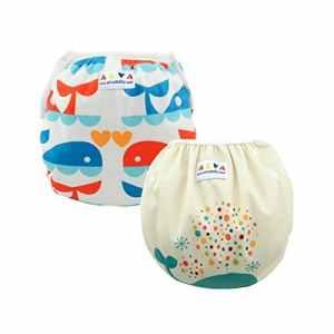 Alva Baby Couches de bain réutilisables lavables Taille Unique 2pcs paquet SWD02-04-FR