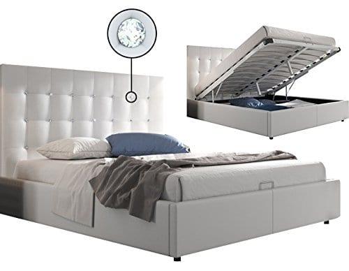 lit design coffre 160x200 capitonn rev tement simili cuir. Black Bedroom Furniture Sets. Home Design Ideas