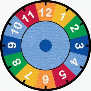 Learning Carpets CPR529 – Clock Round by Learning Carpets