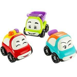 Véhicule Jouets de voiture Jouets à friction, Pictek camions de jouet, Lot de 3, Jouets bébé pour tout-petits