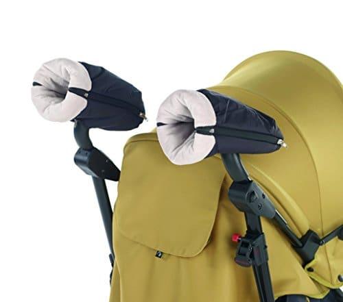Ogquaton Couverture de poussette pour b/éb/é Couverture de poussette pour poussette Poign/ée de protection d/élasticit/é Couverture pour poussette parapluie 2 PCS noir