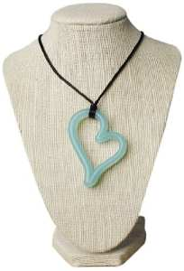 Teethease Heart Pendant Toy, Jade
