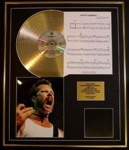 METALLICA/CD GOLD DISC, SONG SHEET & PHOTO DISPLAY/LTD. EDITION/COA/ALBUM, METALLICA /SONG SHEET, ENTER THE SANDMAN by GOLD RECORD
