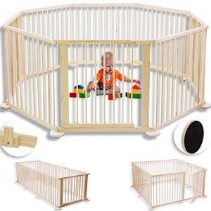 Parc pour enfants Barrière de sécurité et parc bébé 7,2 m XXL y compris porte de sécurité