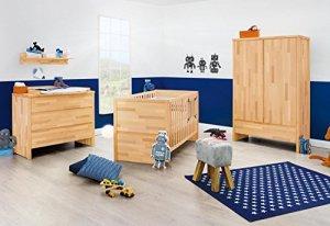 Pinolino Chambre de bébé Fagus (3 éléments) – Hêtre – Huilé