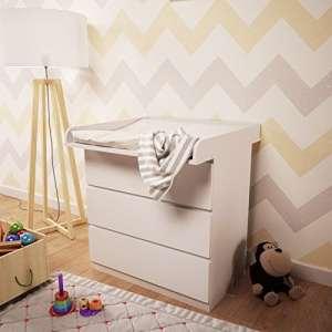 POLINI Kids à langer pour commode MALM IKEA Blanc