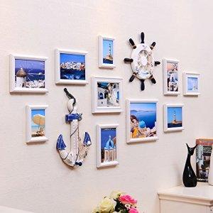 QPLA@Cadres photo Décoration murale Set Européenne-est de la Méditerranée les salon minimaliste moderne décoration photo cadres photo des combinaisons créatives photo mur , c