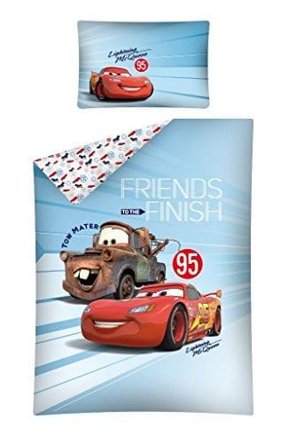 Parure de lit enfant Cars Bleu 100/x 135/cm 40/x 60/cm 100/% coton Parure de lit Baby Parure de lit 2/pi/èces Parure de lit