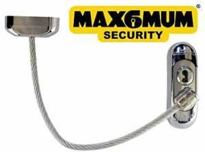 25x Chrome Max6mum Sécurité verrouillable pour bébé et enfant fenêtre et porte de sécurité avec câble clair à
