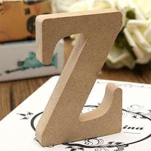 Friended Craft lettres en bois Autonome A-Z lettres de l'alphabet à suspendre fête de mariage Home Decor, Bois dense, Wooden color, Z