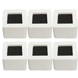 alicebeauty résistant Design lit élévateurs Meuble Tuyau chaises Lifts 2.95 pouce Lot de 6 pièces – Blanc, 8,5 cm