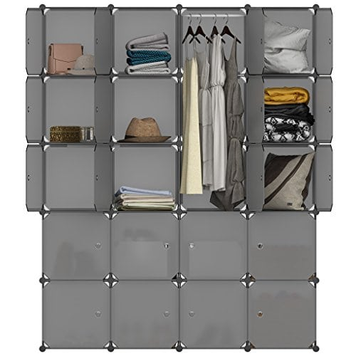 langria armoire penderie 20 cubes avec portes meuble. Black Bedroom Furniture Sets. Home Design Ideas
