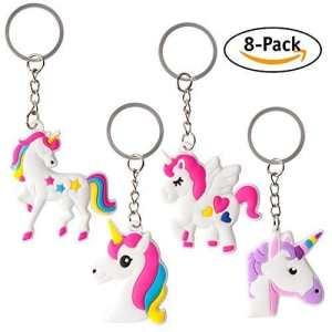 Licorne Party Favor Porte-Clés (8-Pack Assortiment)