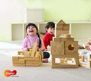 Eduplay Kc21028x 8x 4cm Ensemble de blocs de bois tendre (– Tecap –)