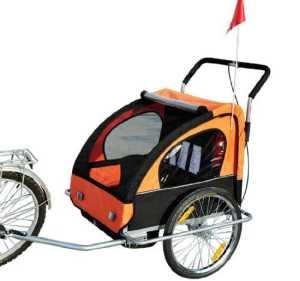 Homcom Remorque vélo pour enfant 2 en 1