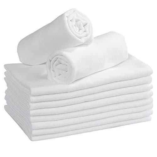 YOOFOSS Lange B/éb/é en Mousseline de Coton Carr/és Doux de Mousseline Super Soft pour Peaux Sensibles pour Nouveaux-n/és 35x50cm - 4 Couches