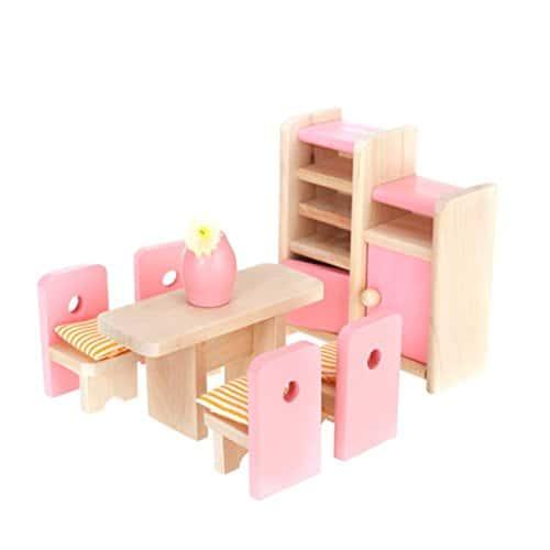 Ddg Edmms Placard Table Chaise Modele Rose En Bois Pour