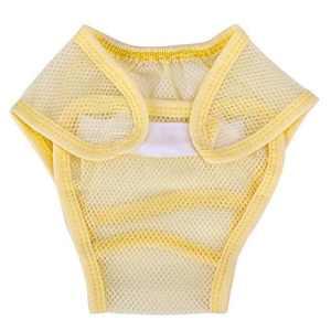 Silveroneuk Couche-Culotte Anti-Fuite – Bébé (Fille) 0 à 24 Mois – Jaune – 0-3 Mois
