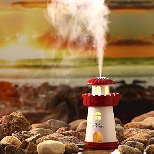 humidificateur Wyxhkj lampe humidificateur Phare LED humidificateur Diffuseur d'air purificateur d'atomiseur