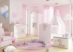 'Kit de Chambre À Coucher enfants meubles «Minnie Mouse Chambre d'adolescent complet Chambre d'enfant
