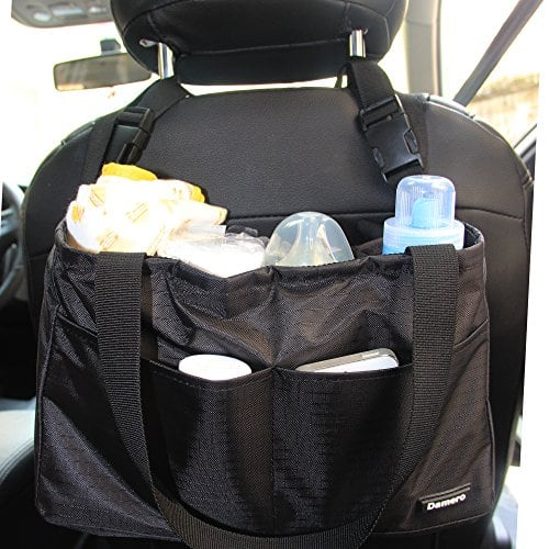Damero Ins/érer Organisateur pour les femmes//Voyage maman sac /à main//B/éb/é Nappy Bag avec poign/ées Noir