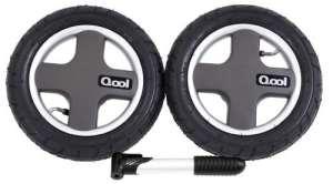 Joovy Qool pneumatique Roues arrière et pompe de pneu, Noir