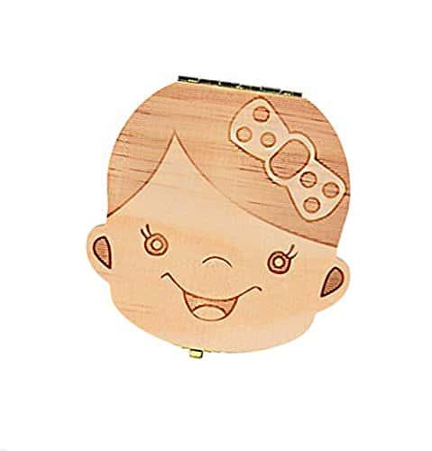 outil de souvenir parfait pour lanniversaire et croissance de gar/çons filles Lomire bo/îte en bois de rangement//organisateur de souvenir pour dents de petits enfants Bo/îte /à dents de lait pour b/éb/és