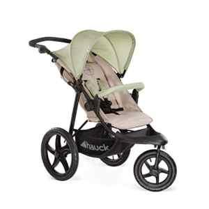 Hauck / Poussette Canne Runner / Poussette Sportive à 3 Roues / avec position couchée, pliage compact / pour enfants de la naissance jusqu'á 25 kg, Oil (Marron)