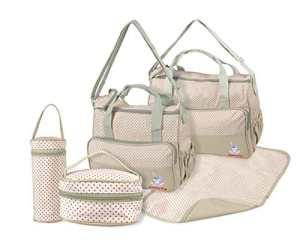 TechnoTec multifonction Baby Diaper Sac à langer/momie à langer Ensemble de sac à main (Kaki)