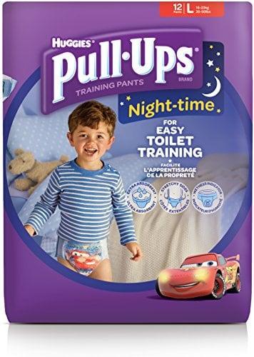 Huggies Pull-Ups Couches Culottes dapprentissage pour gar/çon la nuit 48 Unit/és Large