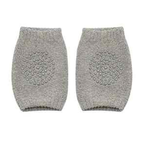 Momorain Protège genouillère pour enfant en bas âge pour enfants, épaissie, anti-dérapante, protège-jambes rampants pour genouillères, unisexe pour enfant (couleur: gris clair)