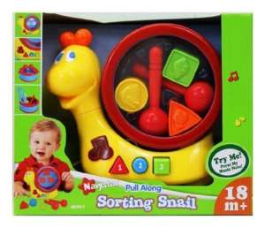 Pull Along – Sorting Snail – Learning Toy by Pull Along