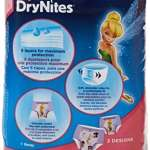 Huggies DryNites Lot de 6x10sous-vêtements de nuits absorbants pour fille 3-5ans