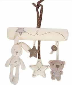 hosaire bébé mignon musique de peluche pour poussette de bébé Jouets en peluche lapin pendentif en forme d'étoile