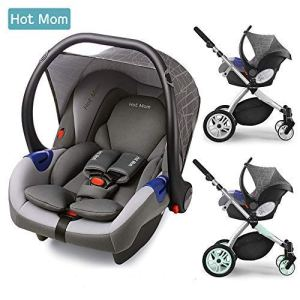 Hot Mom Siège Auto Groupe 0 + (0–13 kg),Gris