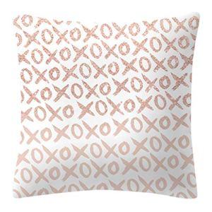 Dchaochao Nordic Taie d'oreiller paillettes or rose géométrique motif ananas pour décoration d'intérieur 45 x 45 cm