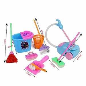 Doitsa 1 Set Jouet de Nettoyage Pinceau Balai Outil de Nettoyage pour Éducation De La Petite Enfance