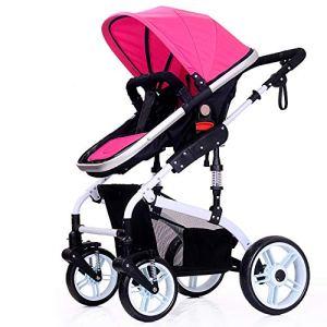 SCJ Poussette de Protection de sécurité, Poussette Commune Anti-pincement, Confort Respirant/Facile à Transporter/Anti-moustiques/Peut être Prise dans l'avion – (0-36 Mois),Pink