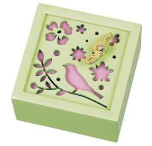 Une bo?te ? musique en bois m?lodie oiseau G-6176G et fleurs (une seule fleur dans le monde) (Japon importation)