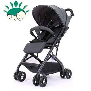 Babylife Bébé Poussette Haut Paysage Peut s'asseoir inclinable léger Pliant Parapluie/Five-Point Ceinture de sécurité/Jambe réglable Reste
