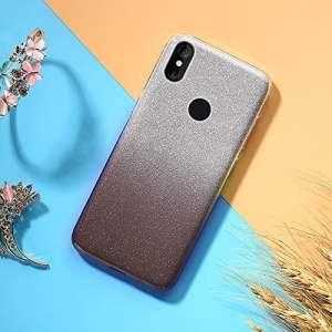 EINFFHO Coque Xiaomi Mi 8 Se, 2 in 1 Design créatif Luxe Gradient Glitter Brillant Briller Bling Ultra Mince Souple Silicone Housse Étui Coque pour Xiaomi Mi 8 Se, Marron