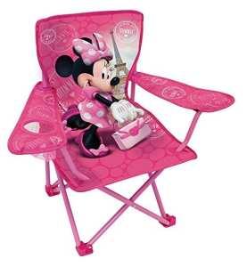 Fun House 712907 DISNEY MINNIE Chaise – Fauteuil de Camping pliable pour enfant