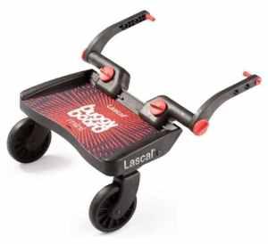 Lascal – LA2850 – Planche à Roulettes – BuggyBoard Mini – Noir / Rouge