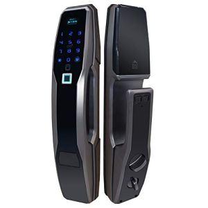 Serrure d'empreinte digitale, serrure de porte numérique biométrique d'écran tactile entièrement automatique anti-vol de traction, utilisé pour le bureau, l'appartement, l'école